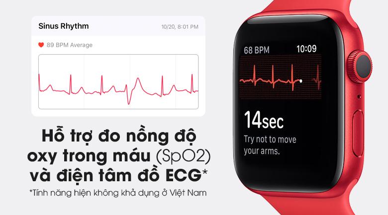 Apple Watch S6 nổi bật với tính năng đo đồng hồ oxy trong máu ( SpO2) và điện tâm đồ ECG
