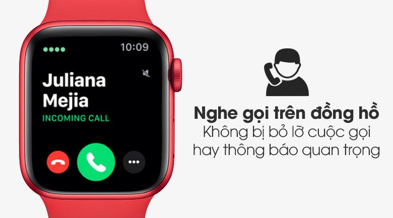 Apple Watch S6 40mm viền nhôm dây cao su (RED) có chức năng nghe gọi trên đồng hồ