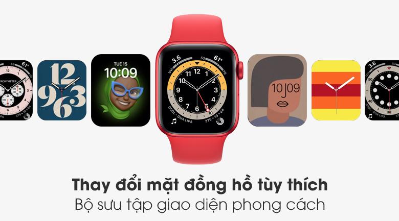 Apple Watch S6 40mm viền nhôm dây cao su (RED) có bộ sưu tập giao diện đa dạng và phong cách