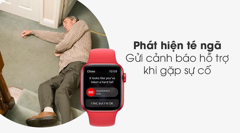 Apple Watch S6 40mm viền nhôm dây cao su (RED) có tính năng phát hiện té ngã