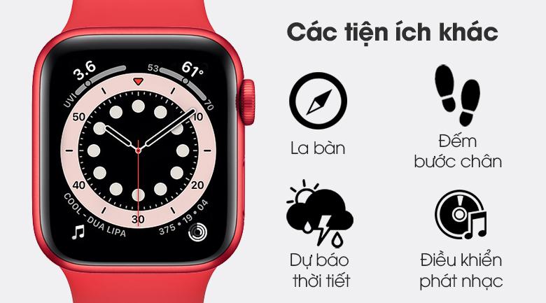 Apple Watch S6 40mm viền nhôm dây cao su (RED) còn nhiều tiện ích khác chờ bạn khám phá