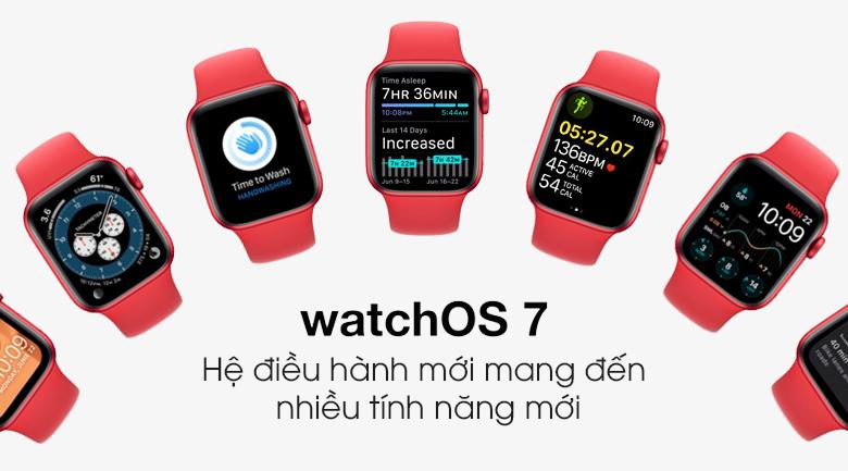 Apple Watch S6 40mm viền nhôm dây cao su (RED) sử dụng hệ điều hành watchOS 7 mang đến nhiều tính năng mới