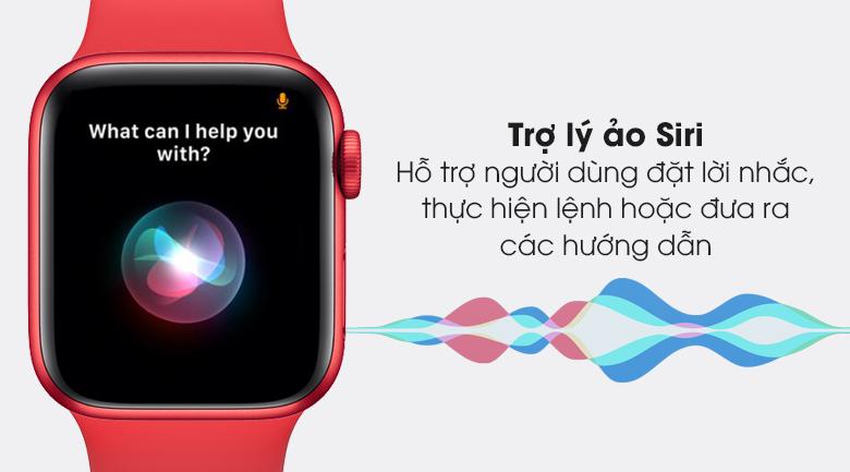 Apple Watch S6 40mm viền nhôm dây cao su (RED) hỗ trợ người dùng tốt hơn với trợ lý ảo Siri