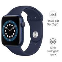 Apple Watch S6 44mm viền nhôm dây cao su xanh