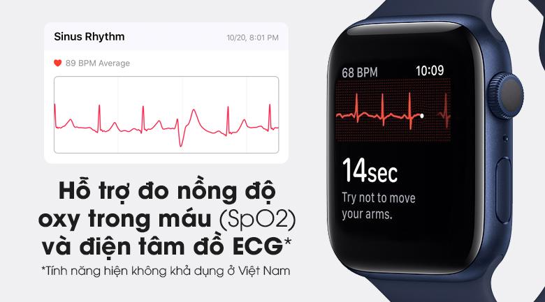 Hỗ trợ đo nồng độ oxy trong máu SpO2 và điện tâm đồ ECG