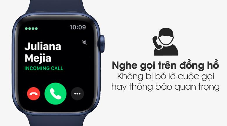 Apple Watch S6 44mm viền nhôm dây cao su có hỗ trợ nghe gọi