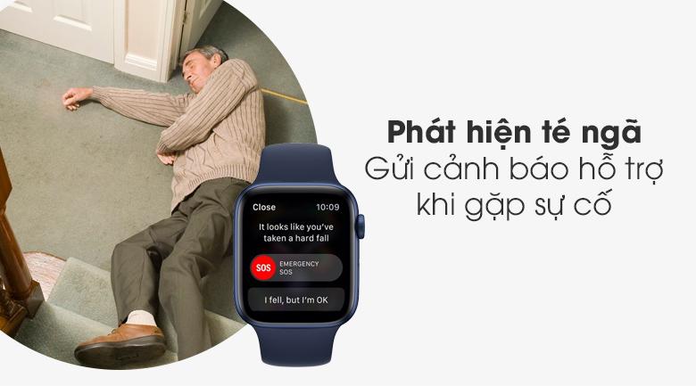 Apple Watch S6 44mm viền nhôm dây cao su có khả năng phát hiện té ngã