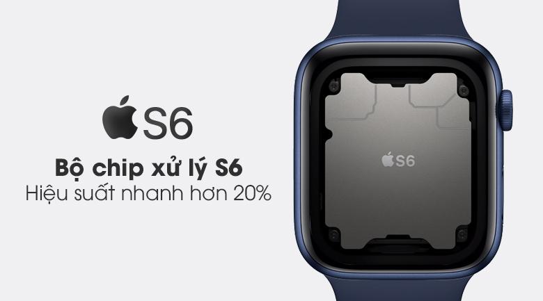 Apple Watch S6 44mm viền nhôm dây cao su có chip xử lý mạnh mẽ