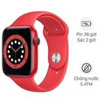 Apple Watch S6 44mm viền nhôm dây cao su (Product RED)