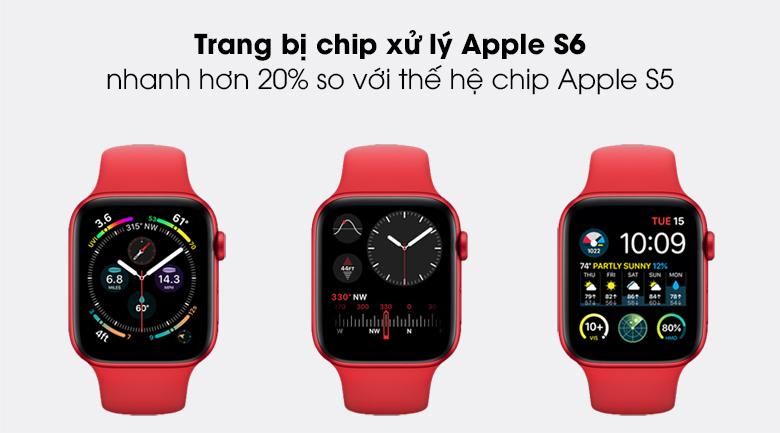 Apple Watch S6 44mm viền nhôm dây cao su sử dụng chip Apple S6