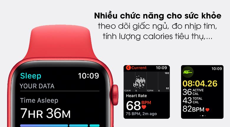 Apple Watch S6 44mm viền nhôm dây cao su giúp bạn theo dõi sức khỏe tốt hơn