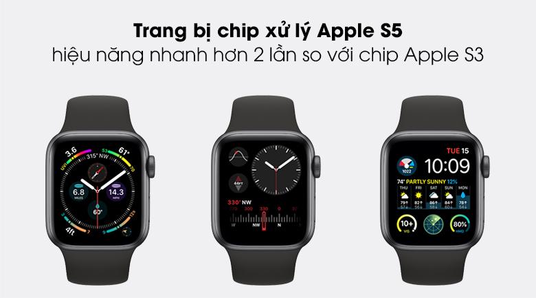 Apple Watch SE LTE 40mm viền nhôm dây cao su có bộ vi xử lý mạnh mẽ