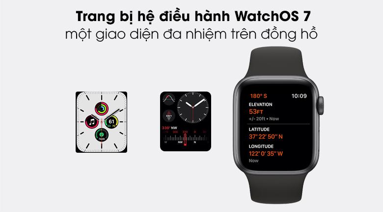 Apple Watch SE LTE 40mm viền nhôm dây cao su có hệ điều hành mạnh mẽ