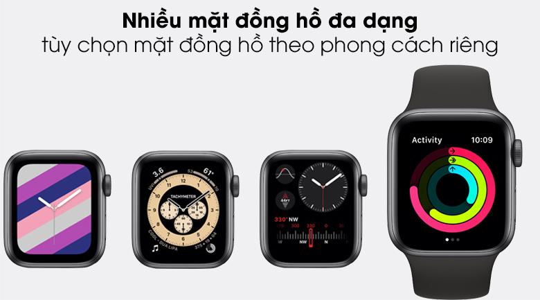 Apple Watch SE LTE 40mm viền nhôm dây cao su cho phép thể hiện phong cách của bạn