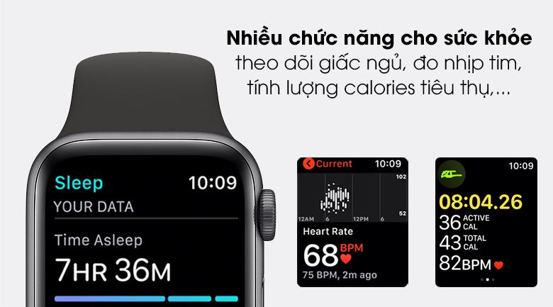 Apple Watch SE LTE 40mm viền nhôm dây cao su cho bạn theo dõi sức khỏe tốt hơn