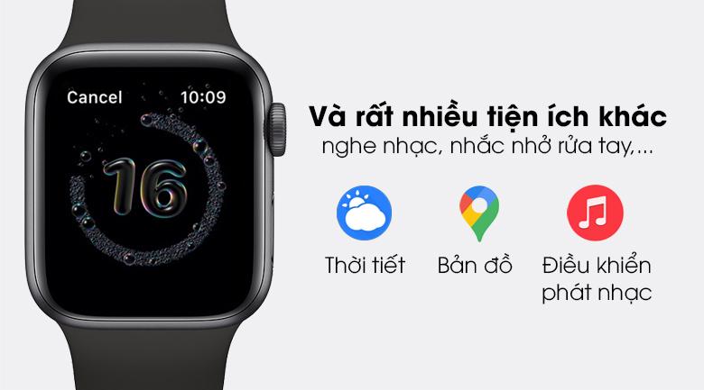 Apple Watch SE LTE 40mm viền nhôm dây cao su có thêm rất nhiều tiện ích