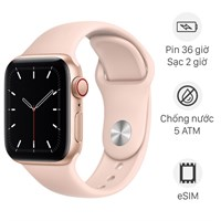 Apple Watch SE LTE 40mm viền nhôm dây cao su hồng