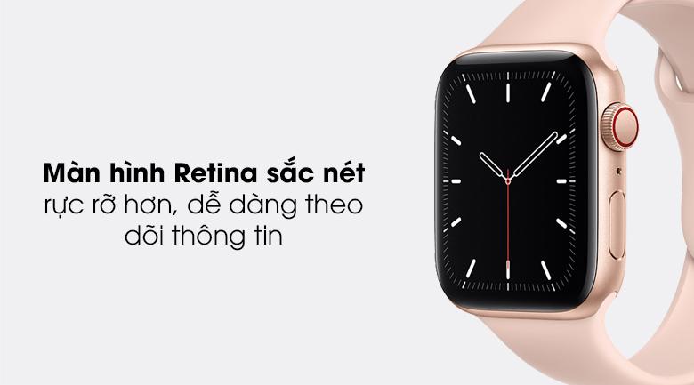 Apple Watch SE LTE 44mm viền nhôm dây cao su có màn hình rõ nét