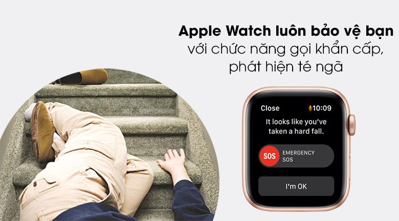 Apple Watch SE LTE 44mm viền nhôm dây cao su bảo vệ bạn tốt hơn