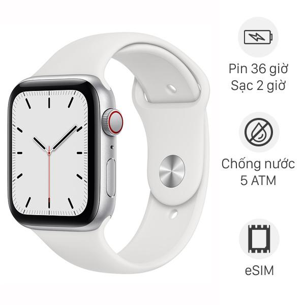 Apple Watch SE LTE 44mm viền nhôm dây cao su