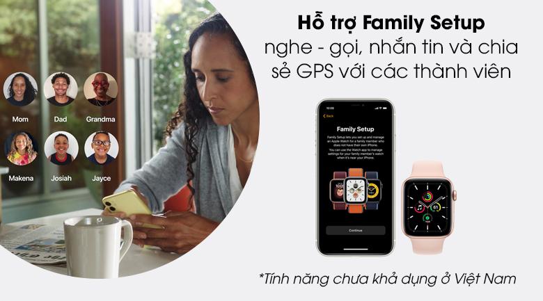 Apple Watch SE 40mm giúp kết nối thành viên trong gia đình qua tính năng Family Setup