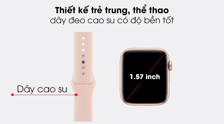 Apple Watch SE 40mm viền nhôm dây cao su cùng thiết kế trẻ trung, thể thao