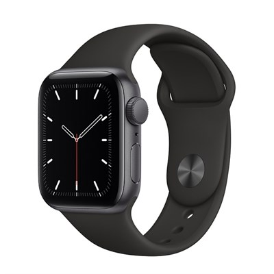 Apple Watch SE 40mm viền nhôm dây cao su đen