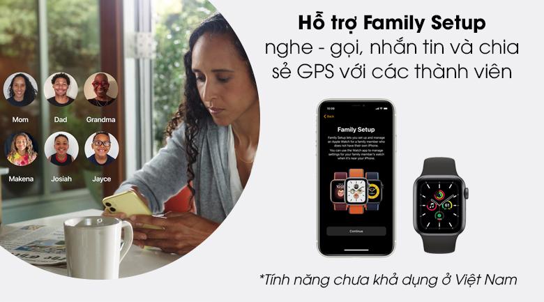 Apple Watch SE 44mm viền nhôm dây cao su giúp gắn kết gia đình thân thiết hơn