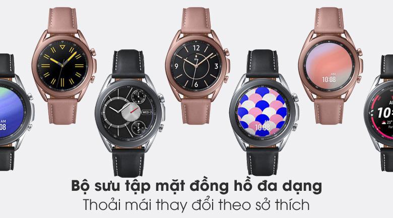 Đồng hồ Samsung Galaxy Watch 3 41mm viền thép bạc dây da đa dạng phong cách