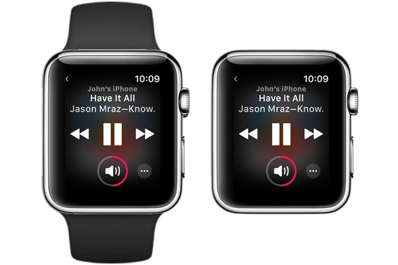 Nghe nhạc trên Apple Watch S3 GPS 42mm viền nhôm dây cao su trắng