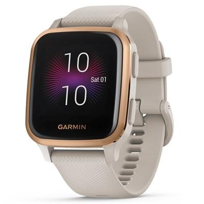 Đồng hồ thông minh Garmin Venu SQ Music dây silicone vàng