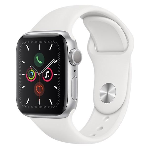 Apple Watch S5 44mm viền nhôm dây cao su trắng
