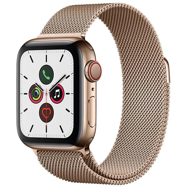 Apple Watch S5 LTE 44mm viền thép dây thép vàng