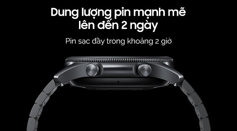 Đồng hồ Samsung Galaxy Watch 3 45mm titanium có thời lượng sử dụng pin 2 ngày