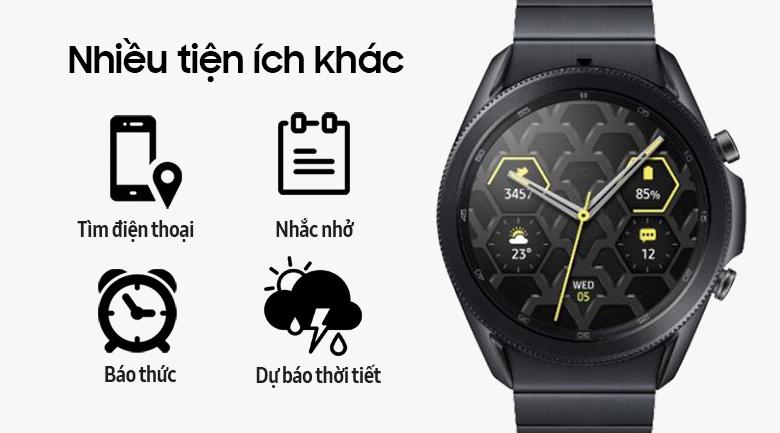 Đồng hồ Samsung Galaxy Watch 3 45mm titanium có nhiều tiện ích khác