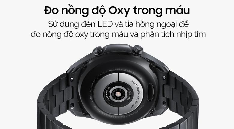 Đồng hồ Samsung Galaxy Watch 3 45mm titanium có tính năng đo nồng độ oxy trong máu