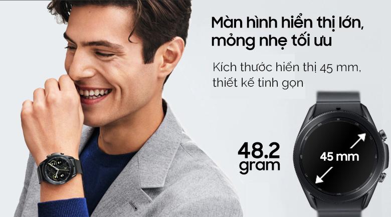 Đồng hồ Samsung Galaxy Watch 3 45mm titanium mỏng nhẹ tối ưu
