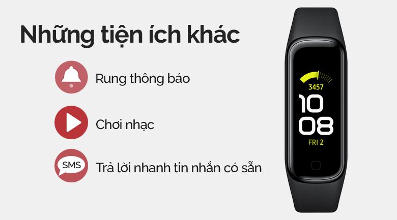 Vòng tay thông minh Samsung Galaxy Fit2 đen và thêm nhiều tính năng tiện ích khác