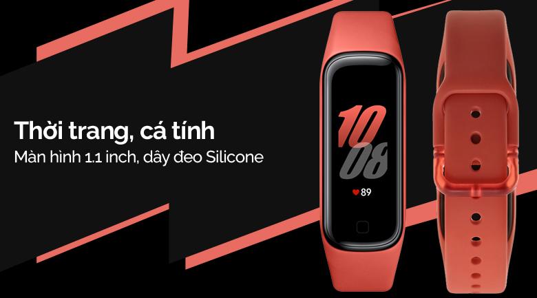 Vòng tay thông minh Samsung Galaxy Fit2 đỏ có thiết kế cá tính