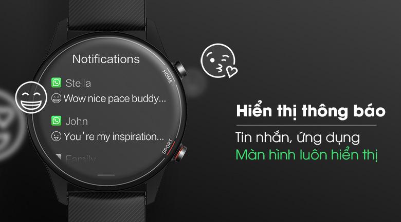 Đồng hồ có khả năng kết nối và hiển thị thông báo