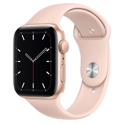 Apple Watch SE 44mm viền nhôm dây cao su hồng