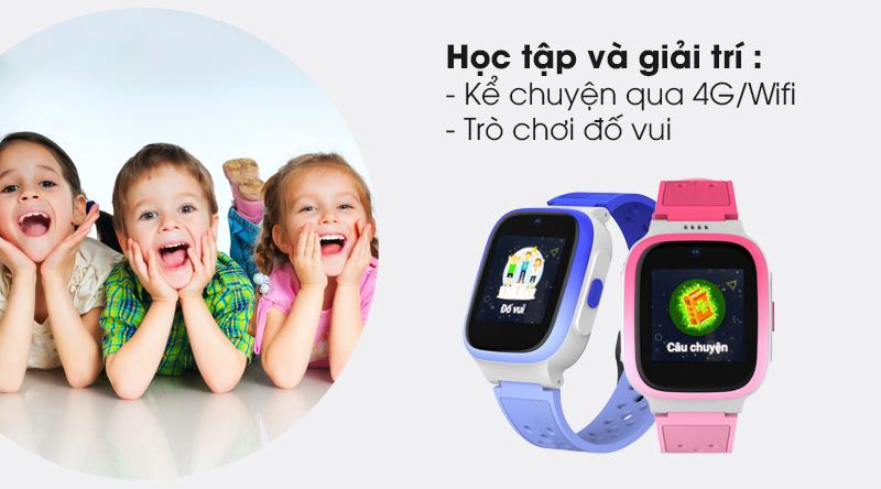 Đồng hồ định vị trẻ em Masstel Smart Hero 4G giúp bé giải trí
