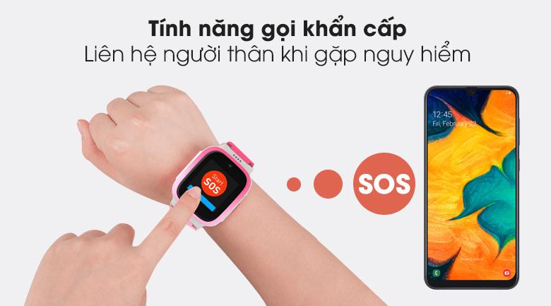 Đồng hồ định vị trẻ em Masstel Smart Hero 4G có thể cảnh báo SOS