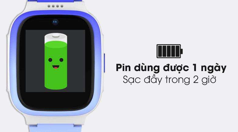Đồng hồ định vị trẻ em Masstel Smart Hero 4G có pin sử dụng trong 1 ngày