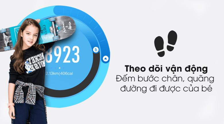 Đồng hồ định vị trẻ em Masstel Smart Hero 4G có khả năng theo dõi bước chân