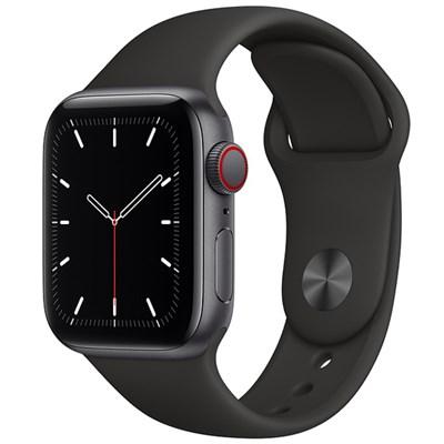 Apple Watch SE LTE 40mm viền nhôm dây cao su đen