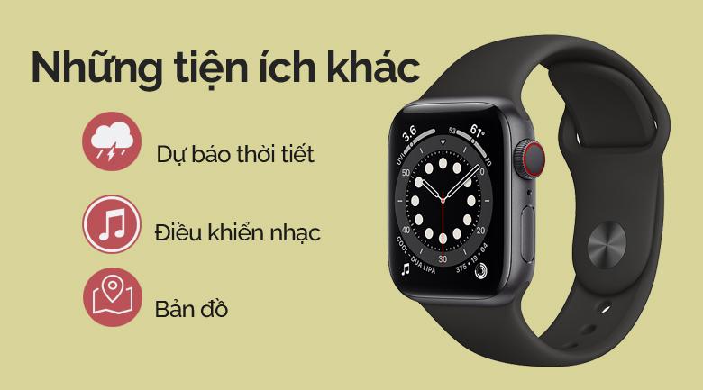 Apple Watch SE LTE 40mm viền nhôm dây cao su đen có nhiều tiện ích khác