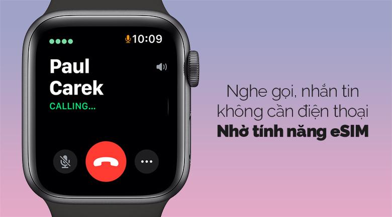 Apple Watch SE LTE 40mm viền nhôm dây cao su đen có tính năng eSim hiện đại
