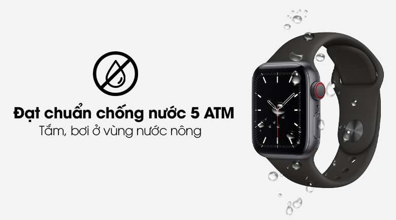 Apple Watch SE LTE 40mm viền nhôm dây cao su hồng có hệ số chống nước 5 ATM