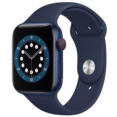 Apple Watch S6 LTE 44mm viền nhôm dây cao su xanh dương